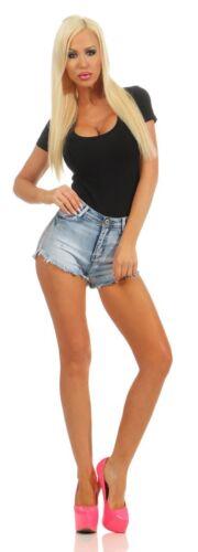 4974 jeans da donna Hotpants Denim Shorts Pantaloni Corti Hot Pants Jeans HIGH-WAIST