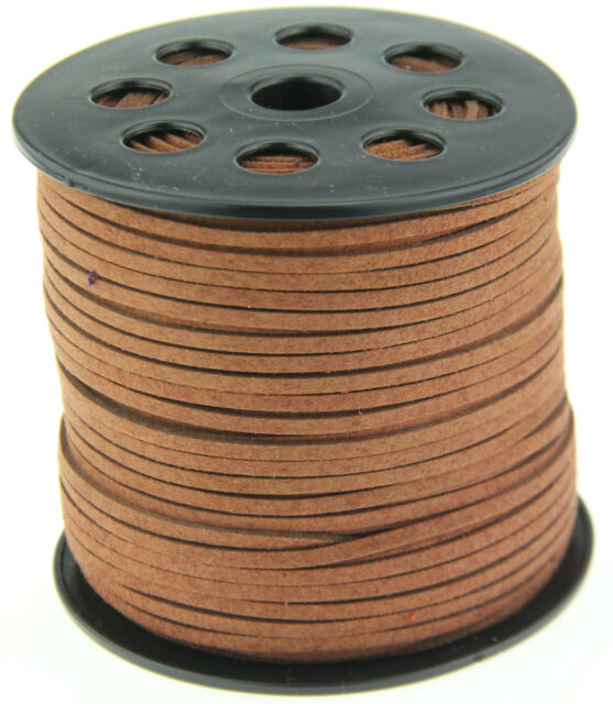10yds 3mm brown Suede Leather String Jewelry Making Thread Cords