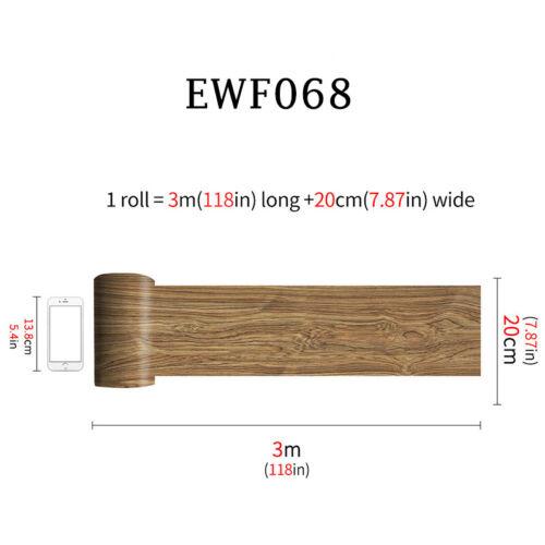 Wood Grain Floor Sticker PVC Self-adhesive Wall Sticker Bedroom Home 20x300cm