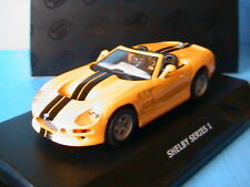 FORD SHELBY SERIES 1 JAUNE MAXICAR 1/43 YELLOW GELB LEFT HAND DRIVE GIALLIO