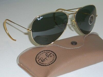 62  14mm VINTAGE B L RAY BAN W0229 G15 ARISTA WRAPAROUNDs AVIATOR  SUNGLASSES NEW 9636751de0