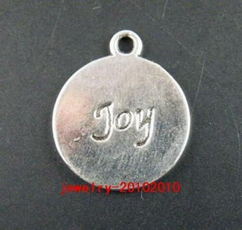30pcs Tibetan Silver Nice joy Pendant Charms Jewelry DIY 21x18mm 9830