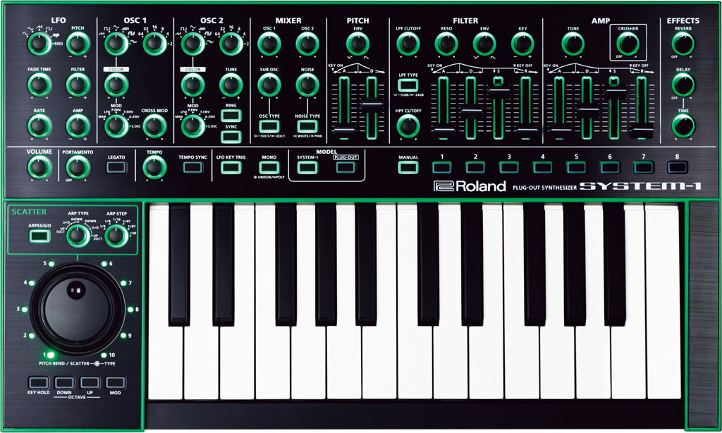 Roland System-1 PLUG-OUT SyntherGrößer  FREE EMS SHIPPING