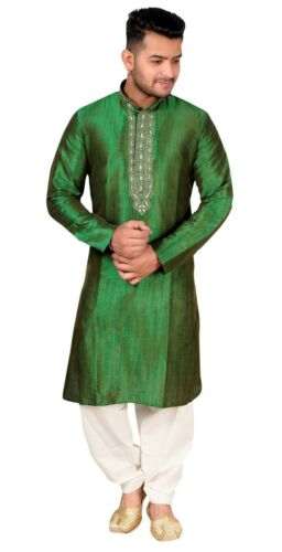 Salwa Bollywood Kameez Kurta Indien Vert Asiatique Crème Pyjama Sherwani 746 A3L54Rj