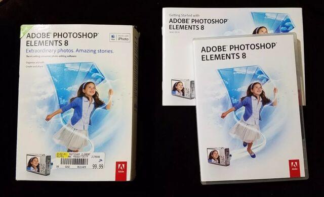 Adobe Software Photoshop Elements 8 Graphic Design Intel Based Mac OS X