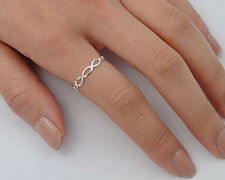 Silver Tiny Infinity Ring Sterling Silver 925 Plain Best Deal Jewelry Size 9