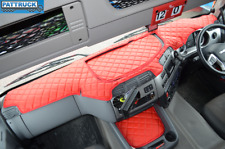 DAF CF EURO 6 - ECO LEATHER DASH MAT-RED