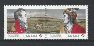 Kanada 2012 Die War Von 1812 Paar Nicht Gefaßt Postfrisch, MNH
