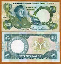 Nigeria, 20 naira, 2005, P-26 (26i), UNC   Large Size Issue