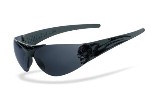 smoke getönt Motorrad Sonnenbrille Helly Bikereyes Moab 4 Tribal Skull Brille