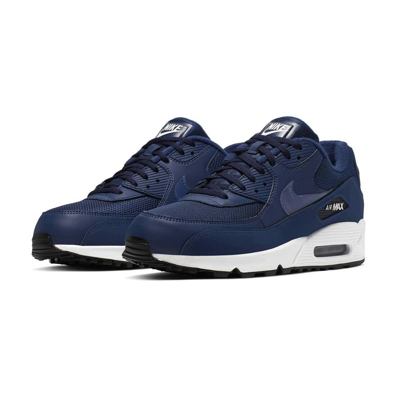 Herren Nike Air Max 90 Essential Turnschuhe Blau Weiß AJ1285 406 UK 8.5 Eu 43