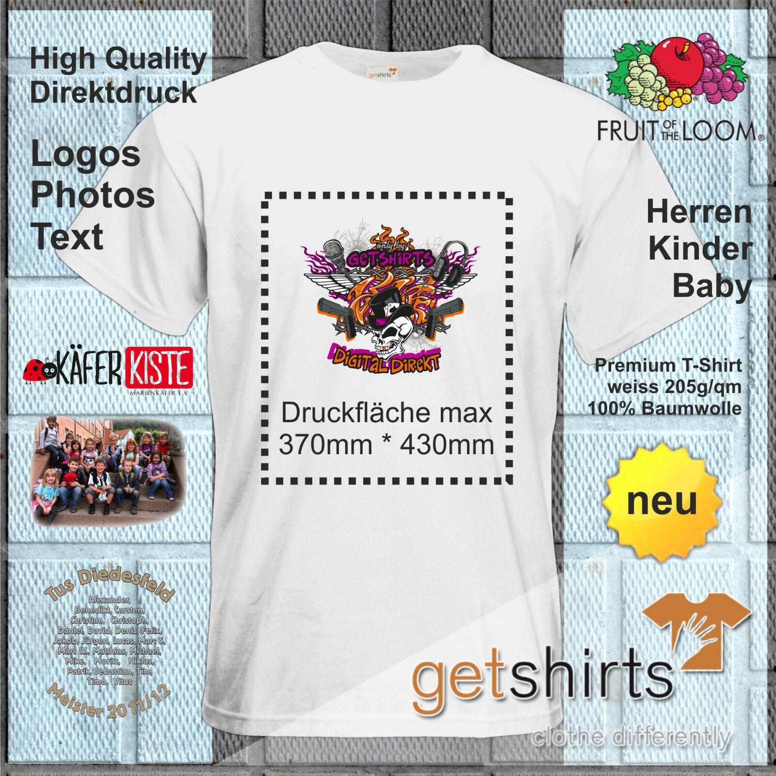 Textildruck Shirtdruck T-Shirt bedrucken - High Quality Direktdruck NEU