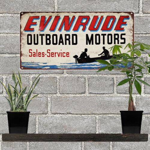 """Evinrude Outboard Motors Metal Sign Ad Repro  6x12/"""" 60228"""