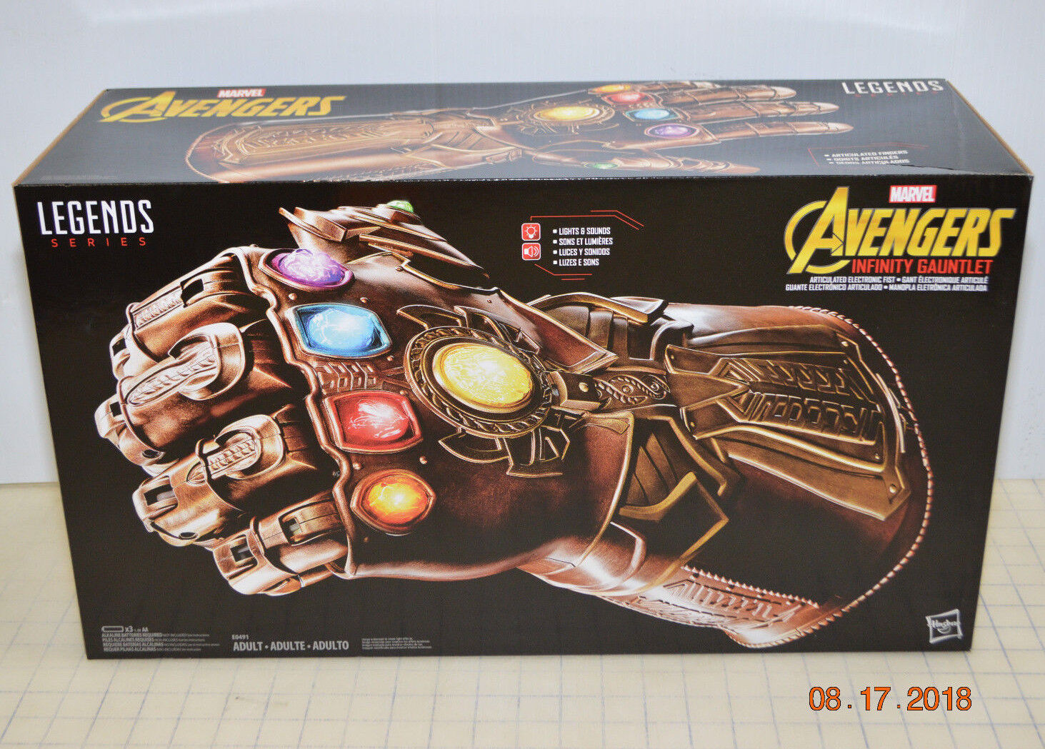 NEW Marvel Legends Series Avengers Infinity Gauntlet Articulated Electronic Fist