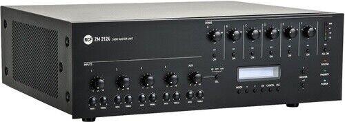 RCF ZM2124 Mixer amp – 240W 4 ohm 70V, 6 zones