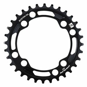 Driveline MX01 CNC 7075 Alloy Chainring 32T BCD 104//94mm Black