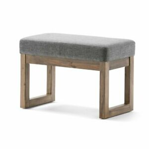 Surprising Details About Milltown 27 Inch Wide Contemporary Footstool Ottoman Bench In Grey Linen Look Dailytribune Chair Design For Home Dailytribuneorg