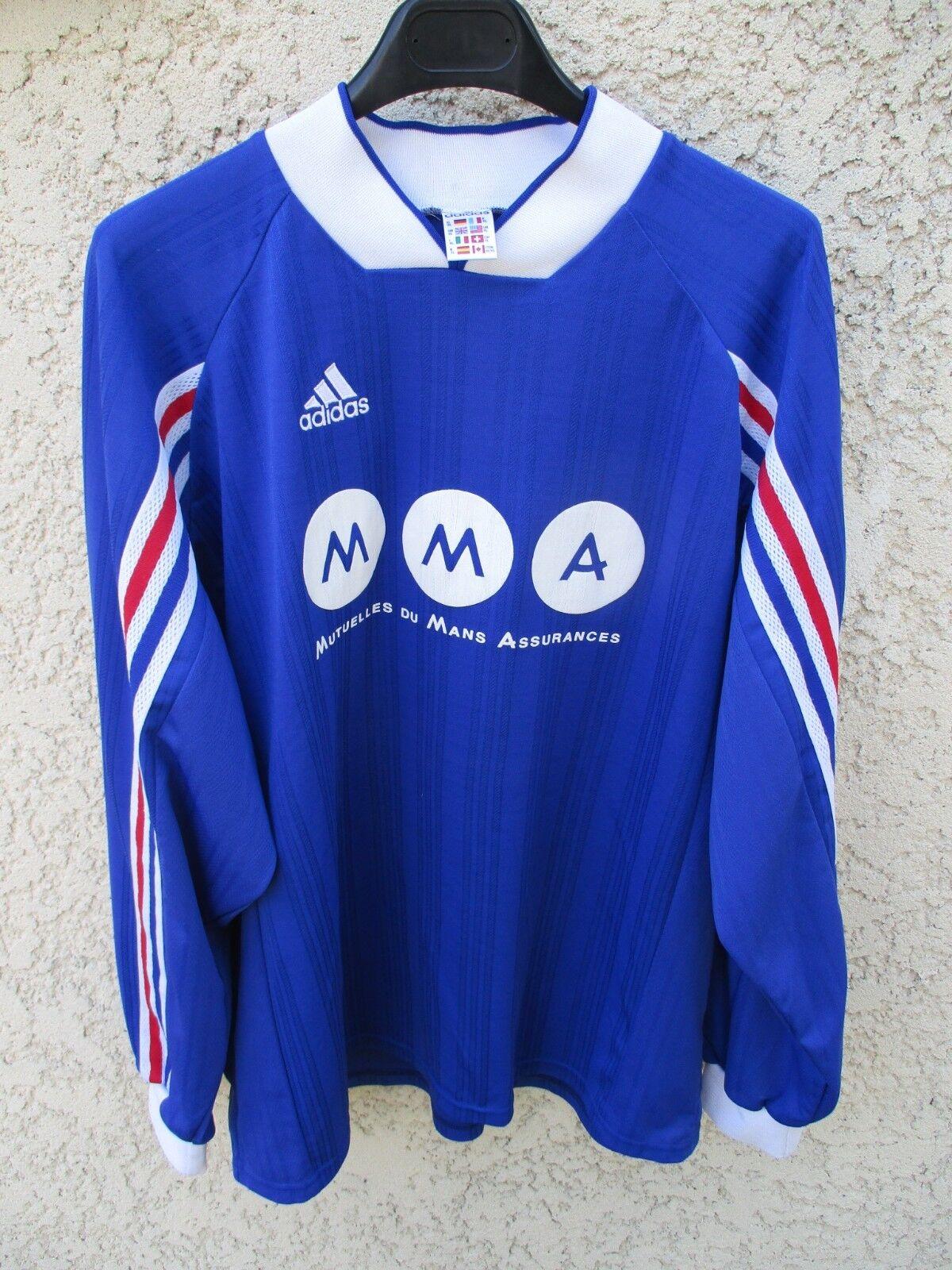 Maillot FRANCE porté n°10 Adidas shirt MMA manches longues trikot vintage XL