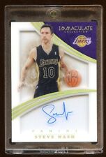 IMMACULATE STEVE NASH #D 10/10 JERSEY AUTO SHOWDOW BOX BEAUTIFUL JERSEY# 1/1 HOF
