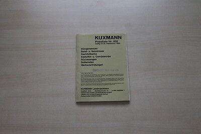 Preise & Extras Kuxmann 163692 Prospekt 09/1983