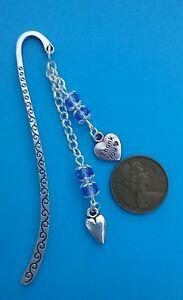 THANK YOU Tibetan Silver Bookmark-Glass Bead.Present//Gift.