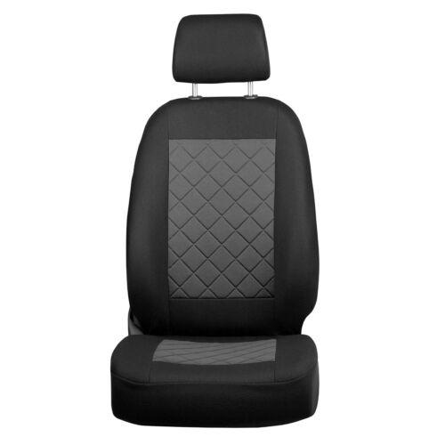 Negro-gris fundas para asientos para Volkswagen Polo asiento del coche referencia completamente