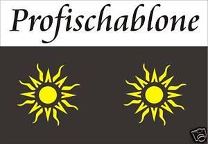 Wandschablone-Wandschablonen-Malerschablonen-Stupfschablone-Wanddeko-Sonnen