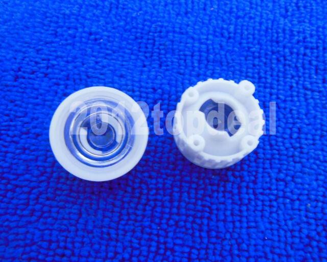 100pcs 60degree led Lens for 1W 3W High Power LED with screw 20mm White holder