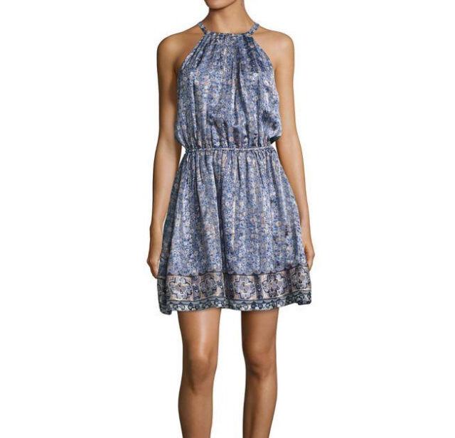 cfe27d72 JOIE Makana D Metallic Silk Blend Hyacinth Sleeveless Dress Sz S for ...