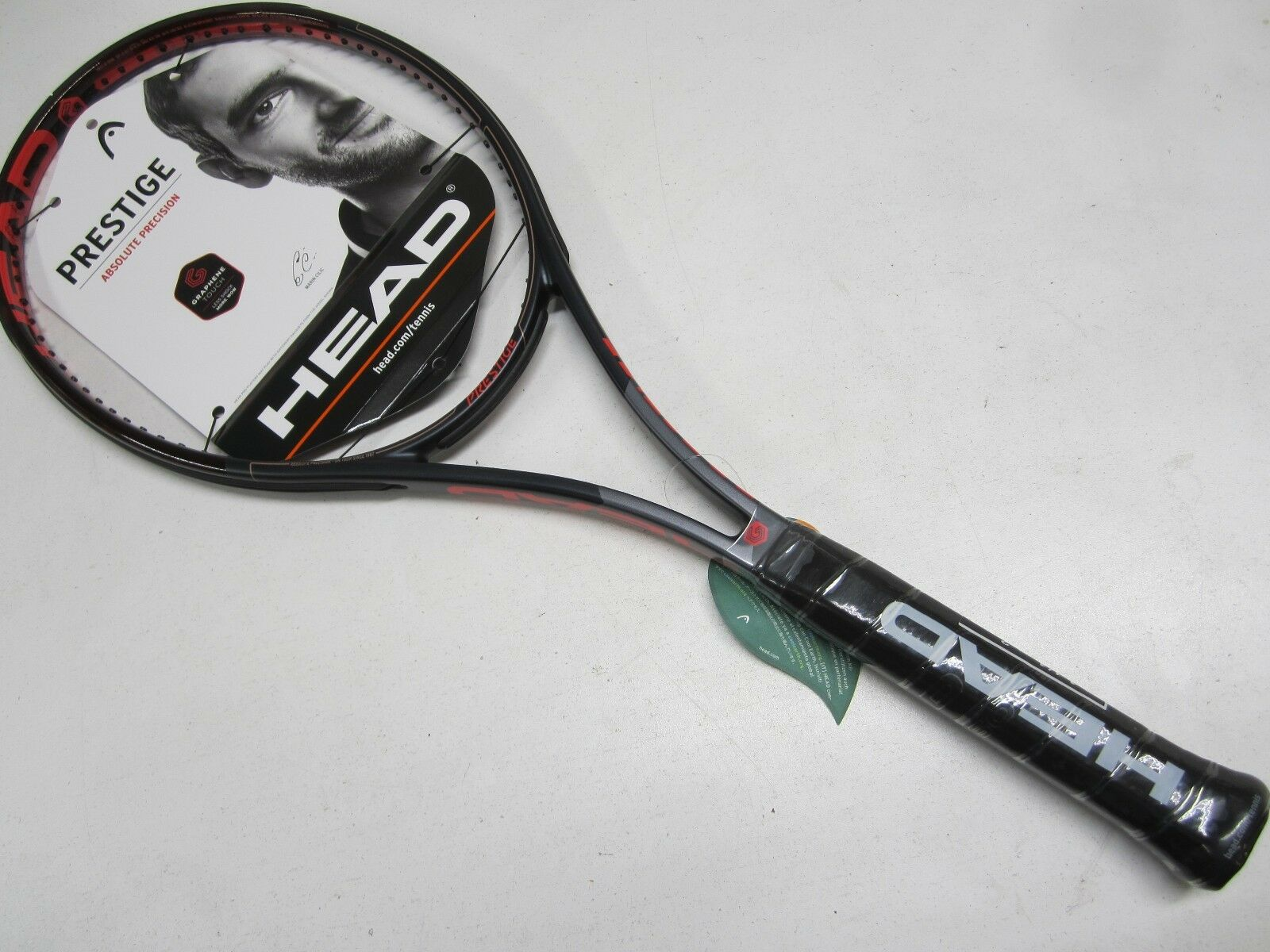 NEW W DEFECT 2018 HEAD GRAPHENE TOUCH PRESTIGE  MID  TENNIS RACQUET (4 1 4)