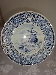 ASSIETTE-DECORATIVE-EN-FAIENCE-DE-DELFT-Diametre-25-cm
