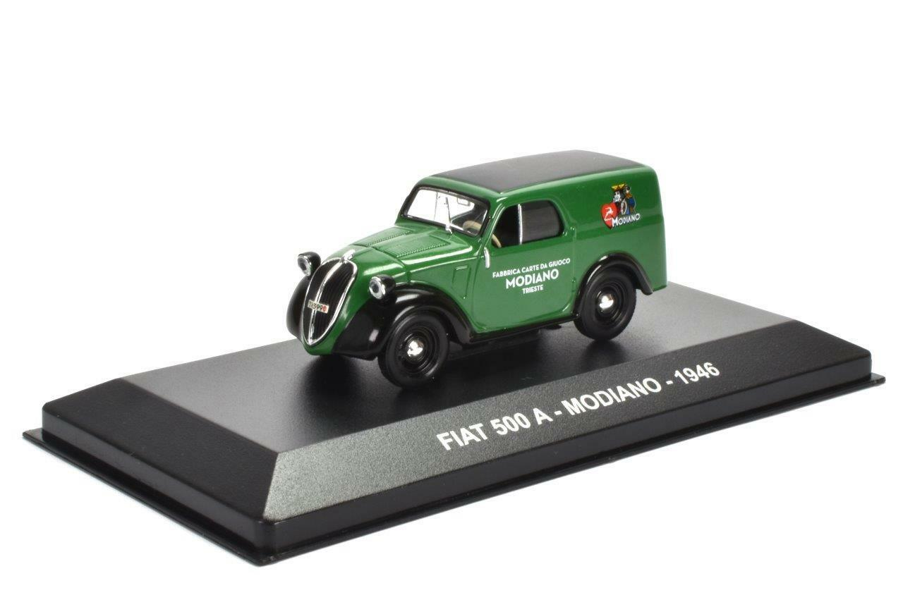 FIAT 500 A MODIANO 1946 - 1 43 CAMION PUBLICITAIRE ITALIEN MINIATURE IXO C94