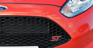 NEW-RED-Metal-Ford-ST-Zetec-S-Grill-Badge-Logo-amp-Fitting-Kit-For-Fiesta-Focus