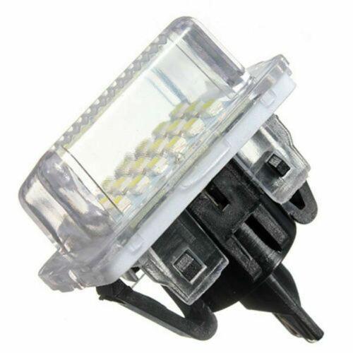 Mercedes Pre-LCI W204 W212 W221 Error Free White LED License Plate Light Lamps
