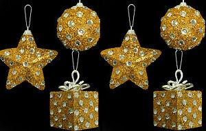6-x-Oro-e-Diamante-a-Pois-a-buon-mercato-DECORAZIONI-PER-ALBERO-DI-NATALE-PALLINE