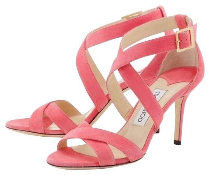 Jimmy Choo  Louise    rosado Gamuza Tacones Sandalias con Tiras Talla UK 3.5 EU 36.5  entrega de rayos