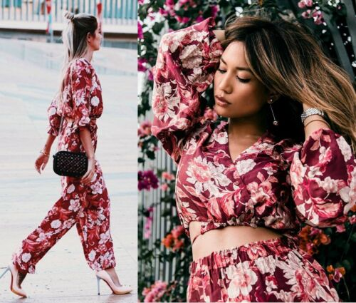 38 ord Eu Set 10 Bukser stk Blomster Zara Print 6 Uk Co Us Voluminous 2 M Top xgnOqFY