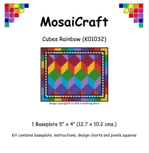 Mosaicraft pixel Craft MOSAICO Art Kit /'CUBI arcobaleno/' pixelhobby