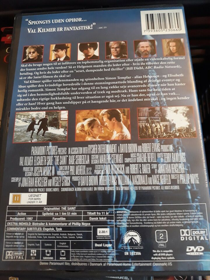 Saint, DVD, action