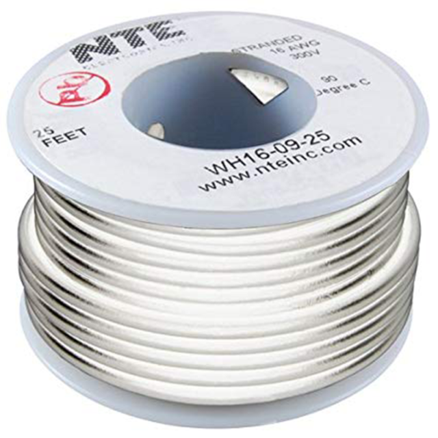 NTE WH24-02-100 Hook Up Wire 300V Stranded Type 24 Gauge 100 FT RED
