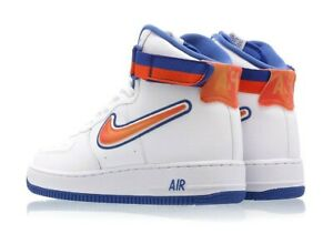 Details about Nike Air Force 1 High Sport NEW YORK KNICKS WHITE ORANGE BLUE METS