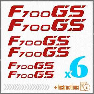 6pcs-Sticker-Set-Rot-Kompatibel-mit-BMW-F-700-GS-f700-F700GS