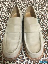 PARABOOT SZ-11 US BEIGE NUBUCK SUEDE FULL STRAP GOODYEAR WELTED MOC TOE SLIP-ONS