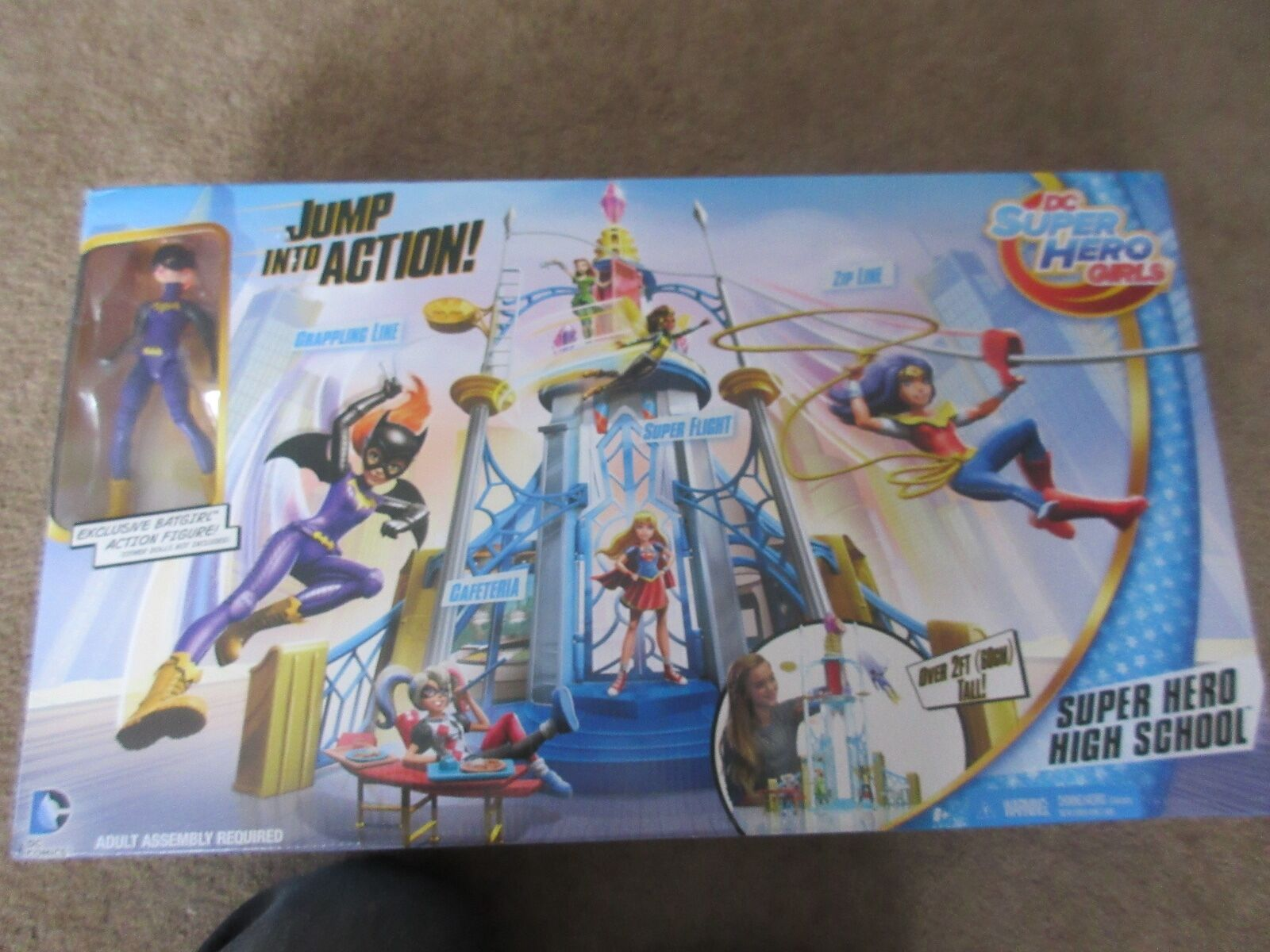 DC SUPER HERO GIRLS WITH EXCLUSIVE BATGIRL ACTION FIGURE. OVER 2