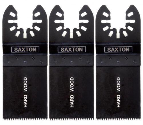 3 x 35mm Hardwood Saxton Blades for Dewalt Stanley Oscillating Multitool