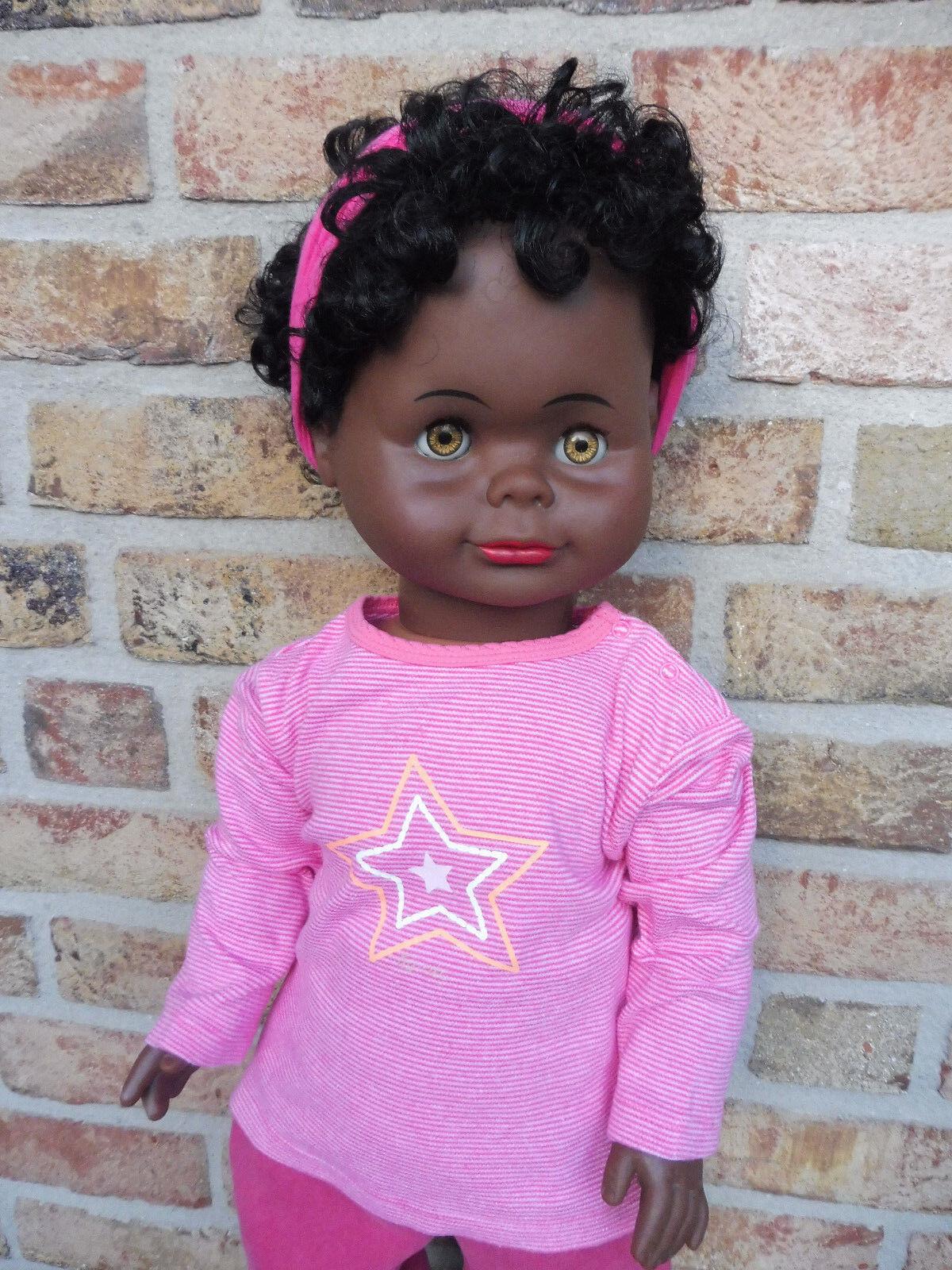 Lissi Bätz Puppe dunkelhäutig ca. 70 cm groß sehr selten aus den 70 er