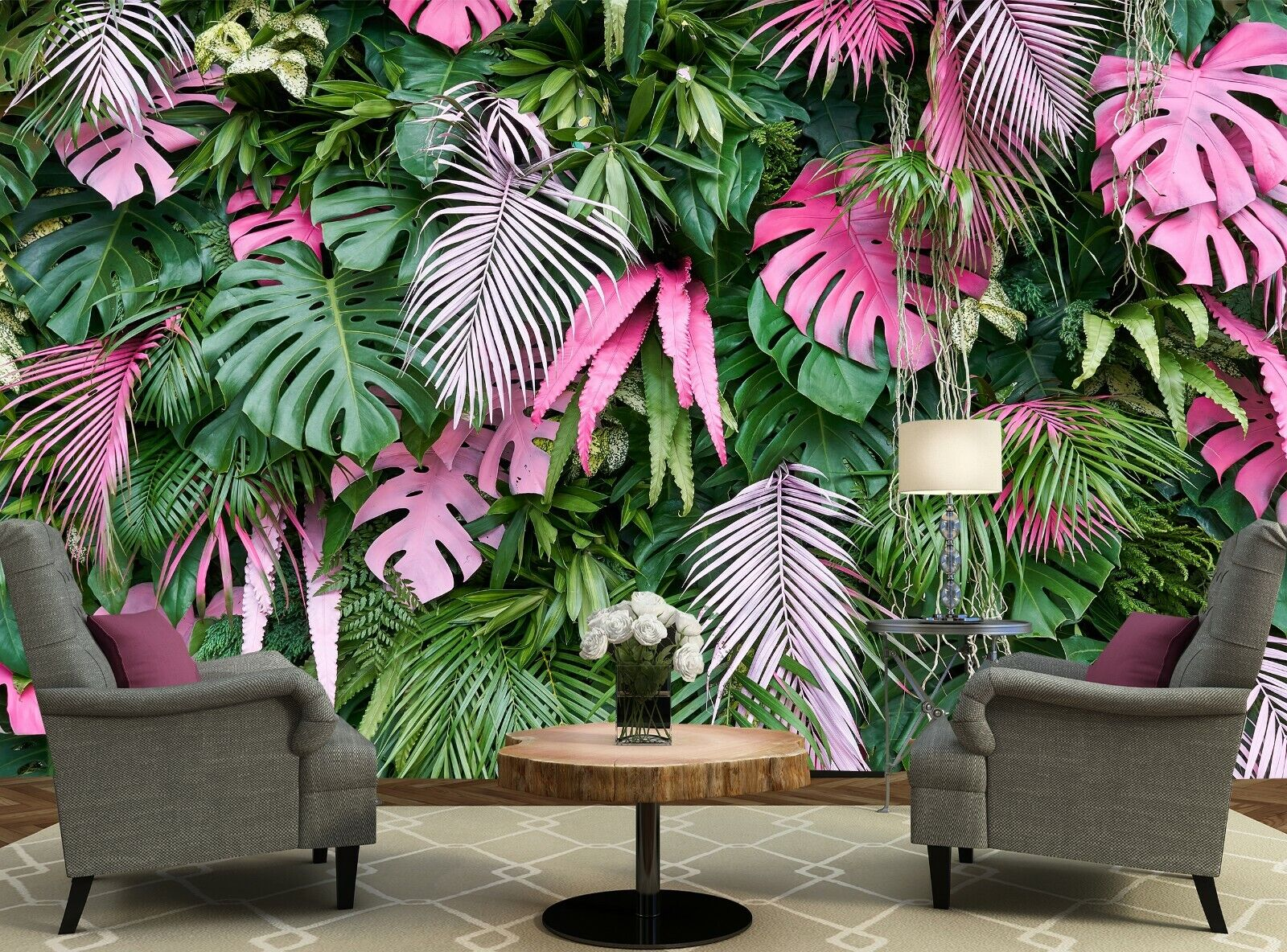 Tropical Trees Photo Wallpaper Wall Mural DECOR Paper Poster Free Paste