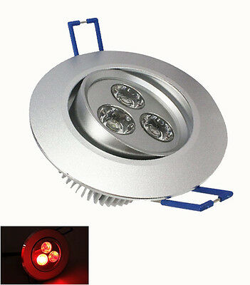 5W LED Ceiling Recessed Down Lights Spot lamp Bulb Red Blue Green RGB AC85-265V