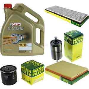 Inspektionskit-filtro-castrol-5l-aceite-5w30-para-Vauxhall-Astra-Mk-III-F-cc-1-4i