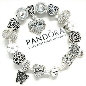 Authentic Pandora Charm Bracelet Silver
